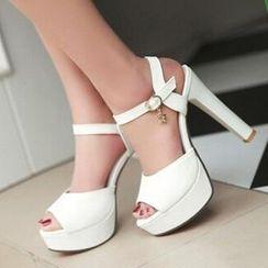 Tomma - Ankle Strap Platform Heeled Sandals