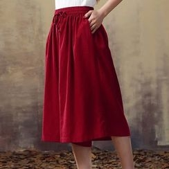 Heybabe - Cropped Wide Leg Pants