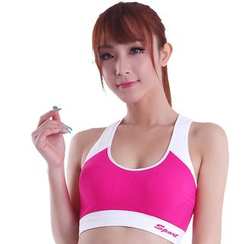 Delico - Contrast Color Sports Bra