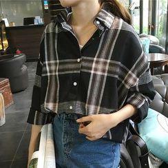 Tiny Times - 格子宽松衬衫