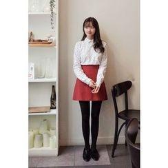 CHERRYKOKO - A-Line Mini Skirt