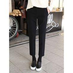 hellopeco - Straight-Cut Dress Pants
