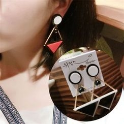 Ticoo - Triangle Drop Earrings