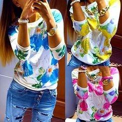Rebecca - Flower Print Pullover