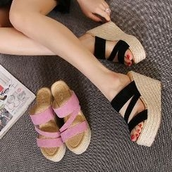 Mancienne - Wedge Slide Sandals