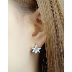 soo n soo - Flower Stud Earring (Single)