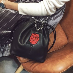 Rosanna Bags - Rose Embroidered Chain Strap Crossbody Bag
