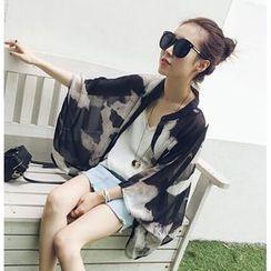 Eva Fashion - Floral Print Chiffon Blouse