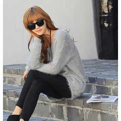 REDOPIN - Furry Knit Sweater