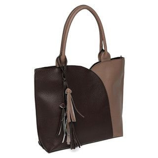 YesStyle Bags - Tassel-Accent Color-Block Tote