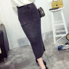 Fashion Street - Ribbed Pencil Skirt