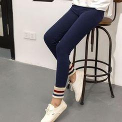 Meigo - 罗纹袖口窄身裤