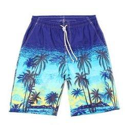 Mermaid's Tale - 椰樹印花五分平角沙灘褲
