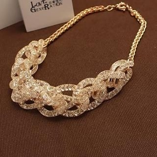 Love Generation - Crystal Knot Statement Necklace