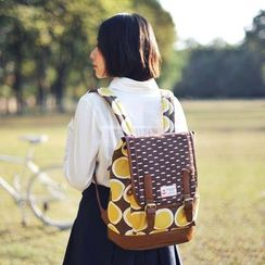 SUPER LOVER - Print Flap Backpack