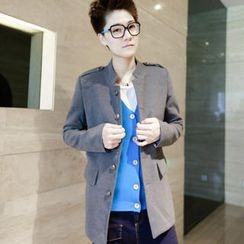Free Shop - Mandarin-Collar Jacket