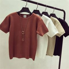 Octavia - Plain Short-Sleeve Knit Top