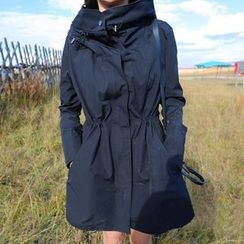 Fashion Street - Plain Hooded Parka