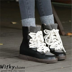 Wifky - Fleece-Lined High-Top Sneakers