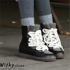 Wifky - 毛裡高幫休閑鞋