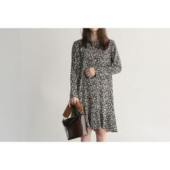 UPTOWNHOLIC - Round-Neck Floral Print Dress