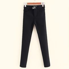 Mocha - Plain Fleece Lined Pants