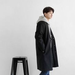 Seoul Homme - Single-Breasted Wool-Blend Coat