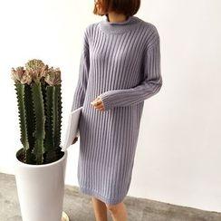 Mayflower - Mock Neck Rib Knit Dress