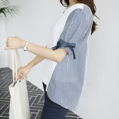 CLICK - Dip-Back Stripe-Panel Top