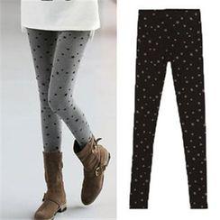 VIZZI - Star Printed Fleece-lined Leggings