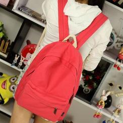 MooMoo Bags - Plain Canvas Backpack