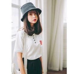 SUYISODA - Buttoned Pocket T-Shirt