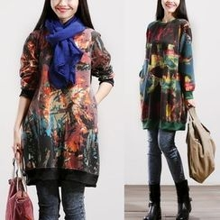 Diosa - Long-Sleeve Print Dress