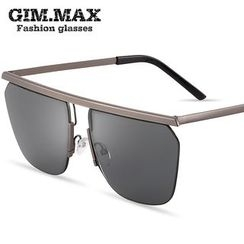 GIMMAX Glasses - Semi-Rimless Square Sunglasses