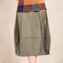 Romantica - Panel A-Line Midi Skirt