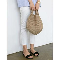 FROMBEGINNING - Straw Shopper Bag
