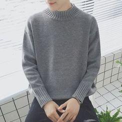 JUN.LEE - Mock Neck Sweater