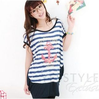 59 Seconds - Anchor Striped Top
