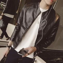 Besto - Faux Leather Jacket