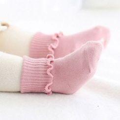 March Daisy - Kids Plain Non-slip  Socks