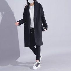Sonne - Open-Front Wool Long Jacket