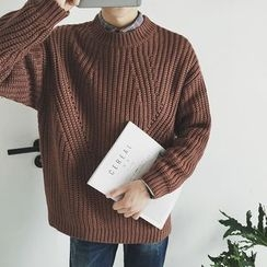 Mitouomo - Plain Chunky Sweater