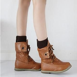 77Queen - Lace-Up Short Boots