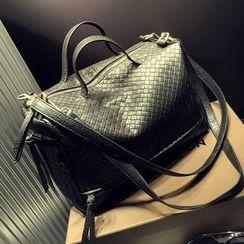 BOLIYASHI - Faux-Leather Woven Satchel