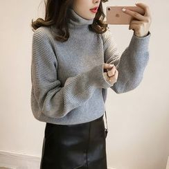 Little V - Plain Turtleneck Sweater