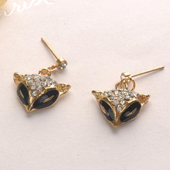 Fit-to-Kill - Diamond Fox Earrings - Gold