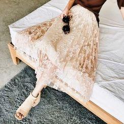 Jack Grace - Lace Midi Skirt