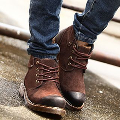 NOVO - Burnished Leather Lace Up Boots