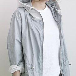 NANING9 - Hooded Zip Jacket