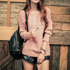 Sweet Dolly - Cable-Knit Sweater